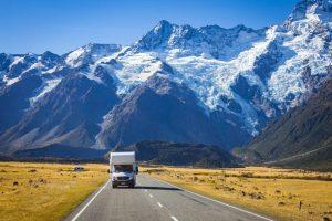 снежные вершины Новой Зеландии